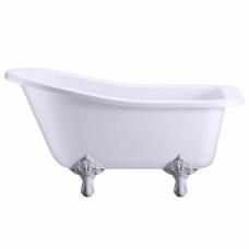 Ванна акриловая Buckingham Slipper c ножками E11 WHI