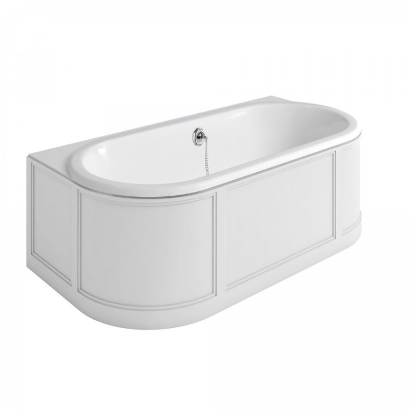 Ванна пристенная London с облицовкой, цвет Белый