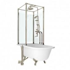 Ванна Royal свободностоящая с душевым ограждением, никель [H402-ARC]