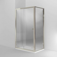 Дверь Arcade 1200mm раздвижная с боковым экраном 800mm, никель [ARC46 + ARC52]