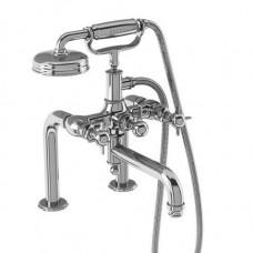 Смеситель для ванны набортный, ручки - крестики, хром [ARC18 CHR]