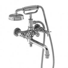 Смеситель для ванны настенный, ручки - крестики, хром [ARC19 CHR]