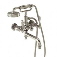 Смеситель для ванны настенный, ручки - леверы, никель [ARC19 + ARC67 NKL]