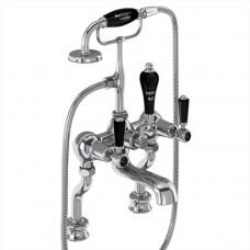 Cмеситель для ванны с ручным душем, Regent, набортный [KER15 BLA]