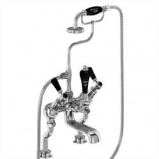 """Смеситель для ванны """"под наклоном"""" с ручным душем, Regent набортный [KER19 BLA]"""