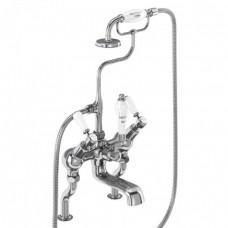 Смеситель для ванны «под наклоном» и ручным душем, набортный [KE19]