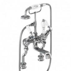 Смеситель для ванны «под наклоном» с ручным душем, Regent набортный [KER19]