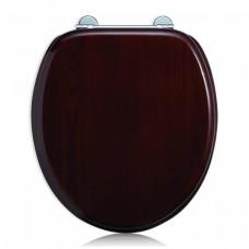 Сиденье на петлях с микролифтом, красное дерево (матовое) [S42]