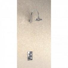 Душевая стойка с встроенным термостатом на 1 выпуск, верхняя лейка 6' [H30-BI]