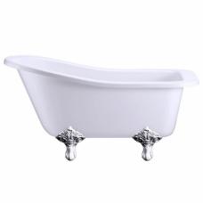 Ванна акриловая Buckingham Slipper c ножками E11 CHR