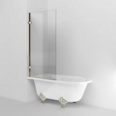 Шторка на ванну, никель