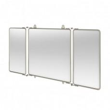 Трёхстворчатое зеркало 1143x30x600 mm, НИКЕЛЬ