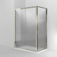 Дверь Arcade 1400mm раздвижная с боковым экраном 900mm, никель [ARC47 + ARC53]