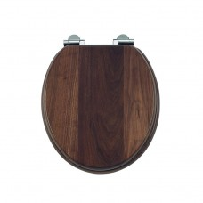 Сиденье на петлях с микролифтом, дерево, массив, цвет орех [S47]