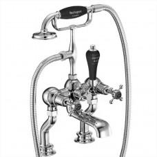 Cмеситель для ванны с ручным душем, Regent, набортный [CLR15 BLA]